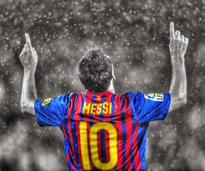 football, game, and messi image
