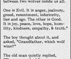 quotes, wolf, and good image