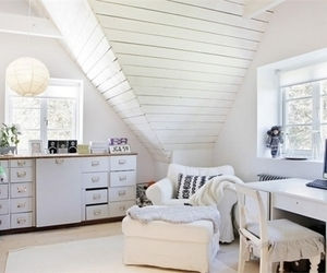 interior, room, and white bedroom image