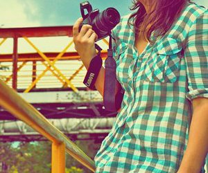 girl, photography, and pink image