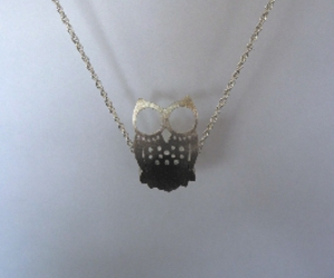 owl, silver necklace, and pendant image