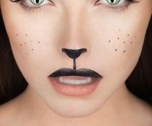 makeup, cat, and Halloween image