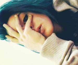 bluehair, myself, and bridgepiercing image