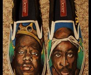 biggie smalls, custom, and shoes image