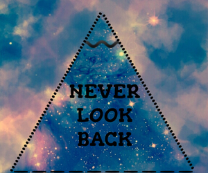 back, never, and look image