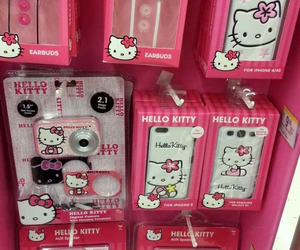 electronics, hello kitty, and pink image