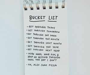 life, bucket list, and note image