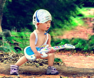 guitar, baby, and rock image