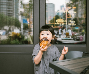 cute, food, and child image