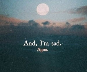 again, moon, and alone image