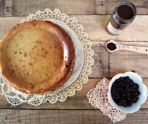 cake, cheesecake, and cappuccino image