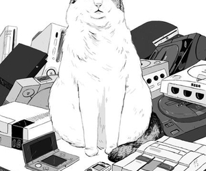 cat, art, and games image