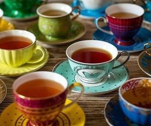 tea, cup, and colorful image