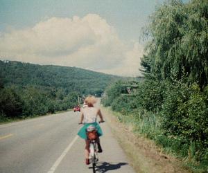bike, travel, and girl image