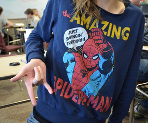 spiderman, girl, and amazing image