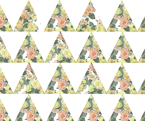 triangle, pattern, and floral image
