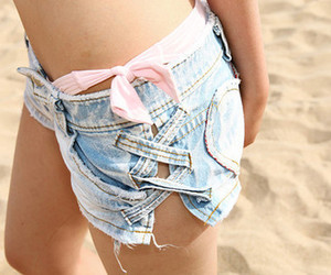 beach, jeans, and pink image