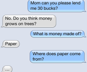 mom, money, and Paper image