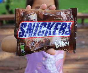 snickers, chocolate, and candy image