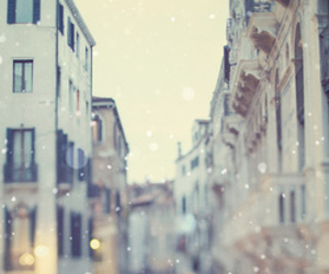city, snow, and photography image