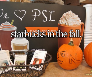 little reasons to smile, pumpkins, and starbucks image