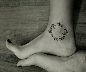 escrita, pè, and tattoo image
