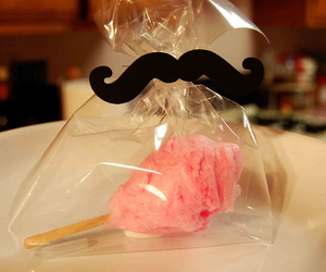 candy, mustache, and cotton candy image