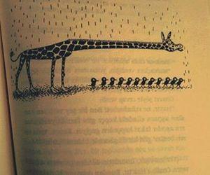 giraffe, book, and rain image