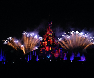 autumn, disney, and firework image