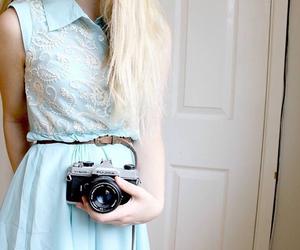 dress, girl, and camera image