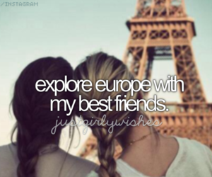 europe, friends, and travel image