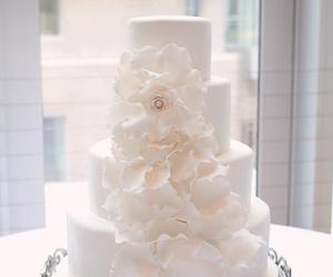 wedding cake, love, and fashion image