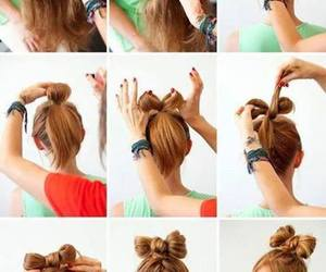 braid, updo, and bow image
