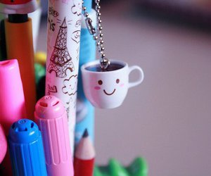 cute, cup, and pen image