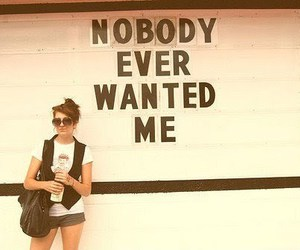 girl, quote, and nobody image
