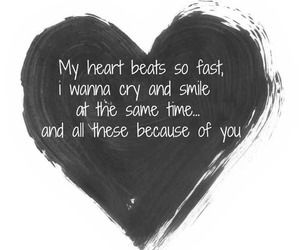 love, heart, and quote image