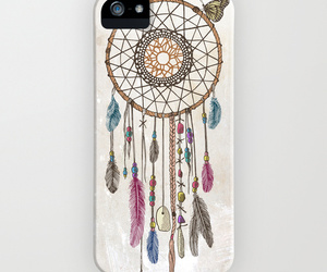 blue, case, and dreamcatcher image