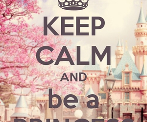 princess, keep calm, and pink image