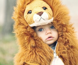 blue eyes, kids, and lion image