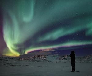 sky, northern lights, and aurora borealis image