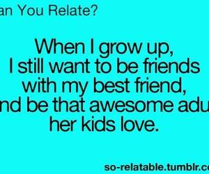 best friends, quote, and kids image
