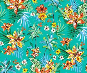 flowers, print, and background image