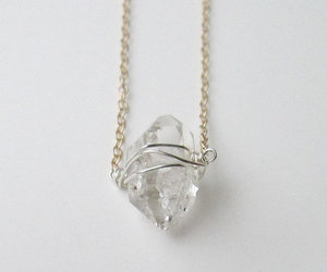 necklace, crystal, and white image