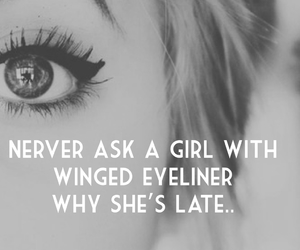 girl, eyeliner, and makeup image