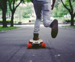 skate, boy, and photography image
