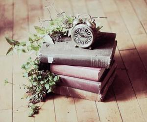 book, vintage, and clock image