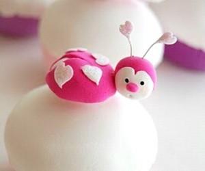 cupcake, cake, and ladybug image