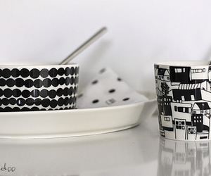 black&white, design, and dishes image