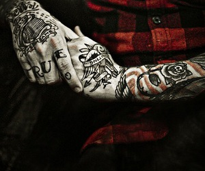 tattoo, dallas green, and hands image