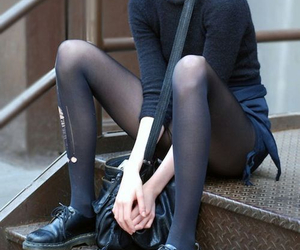 girl, skinny, and black image